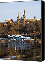 D.c. Photo Canvas Prints - Georgetown University waterfront  Canvas Print by Brendan Reals