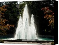 Team Canvas Prints - Georgia Herty Field Fountain on UGA North Campus Canvas Print by Replay Photos