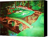 Augusta Golf Painting Canvas Prints - Georgia Spring 12 Canvas Print by Hayden Shepherd