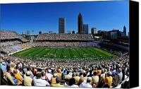 Bobby Canvas Prints - Georgia Tech Bobby Dodd Stadium and Atlanta Skyline  Canvas Print by Getty Images