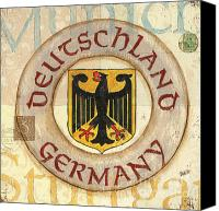 Cream Canvas Prints - German Coat of Arms Canvas Print by Debbie DeWitt