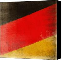 Abstract Map Photo Canvas Prints - German flag Canvas Print by Setsiri Silapasuwanchai
