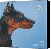 Pinscher Canvas Prints - German Pinscher Canvas Print by Lee Ann Shepard