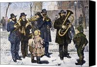 Brass Band Canvas Prints - German Street Band, 1879 Canvas Print by Granger