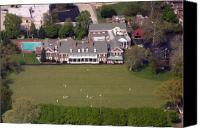 Aerial Canvas Prints - Germantown Cricket Club 3 Canvas Print by Duncan Pearson