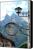 Craggy Canvas Prints - Germany - Cafe Sign Canvas Print by Carol Groenen