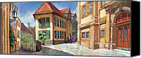 Old Buildings Canvas Prints - Germany Baden-Baden 04 Canvas Print by Yuriy  Shevchuk