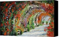 Rose Canvas Prints - Germany Baden-Baden Rosengarten 01 Canvas Print by Yuriy  Shevchuk