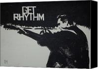 Johnny Cash Canvas Prints - Get Rhythm Canvas Print by Pete Maier