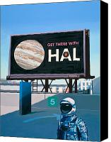 Space Art Canvas Prints - Get There With HAL Canvas Print by Scott Listfield