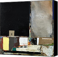 Raw Mixed Media Canvas Prints - Getting Even Canvas Print by Michel  Keck