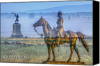 Civil War Anniversary Canvas Prints - Gettysburg Battlefield Canvas Print by Randy Steele