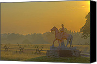 Civil War Anniversary Canvas Prints - Gettysburg Morning Light Canvas Print by Randy Steele