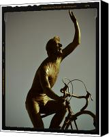 Lago Di Como Canvas Prints - Ghisallo Statue Detail 1 Canvas Print by Chuck Parsons