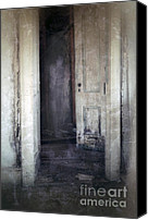 Haunted House Canvas Prints - Ghost Girl in Hall Canvas Print by Jill Battaglia