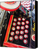 Typewriter Canvas Prints - Ghost Keys Canvas Print by Denny Bond