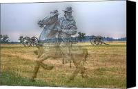 Battles Canvas Prints - Ghost Of Gettysburg Canvas Print by Randy Steele