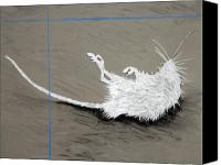 Mouse Pastels Canvas Prints - Ghost Rodent Canvas Print by John Terwilliger