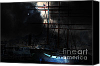 Hyde Street Pier Canvas Prints - Ghost Ship of The San Francisco Bay . 7D14032 Canvas Print by Wingsdomain Art and Photography