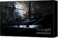Hyde Street Pier Canvas Prints - Ghost Ship of The San Francisco Bay . 7D14153 Canvas Print by Wingsdomain Art and Photography