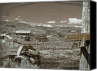 Old Cabins Canvas Prints - Ghost Town Series 2 Canvas Print by Philip Tolok