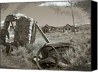 Old Cabins Canvas Prints - Ghost Town Series 3 Canvas Print by Philip Tolok
