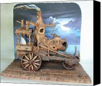 Old Sculpture Canvas Prints - Ghost Tractor Canvas Print by Stuart Swartz