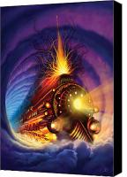 Utherworlds Canvas Prints - Ghost Train Canvas Print by Philip Straub