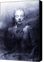 Ghost Canvas Prints - Ghost woman Canvas Print by Scott Sawyer