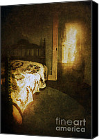 Haunted House Canvas Prints - Ghostly Figure in Hallway Canvas Print by Jill Battaglia