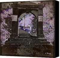 Creepy Digital Art Canvas Prints - Ghostly Garden Canvas Print by Leslie Revels Andrews