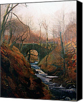 Grimshaw Canvas Prints - Ghyll Beck Barden Yorkshire 1867 Canvas Print by Stefan Kuhn