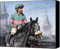 Mike Painting Canvas Prints - Giacomo at Churchill Canvas Print by Thomas Allen Pauly