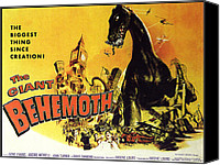 1959 Movies Canvas Prints - Giant Behemoth, The, 1959 Canvas Print by Everett