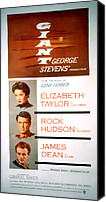 1956 Movies Canvas Prints - Giant, Elizabeth Taylor, Rock Hudson Canvas Print by Everett