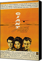 1956 Movies Canvas Prints - Giant, From Left Rock Hudson, Elizabeth Canvas Print by Everett
