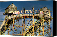 Old Digital Art Canvas Prints - Giant Fun Fair Canvas Print by Adrian Evans