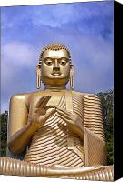 Meditate Canvas Prints - Giant gold Bhudda Canvas Print by Jane Rix