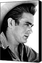 1956 Movies Photo Canvas Prints - Giant, James Dean, 1956 Canvas Print by Everett
