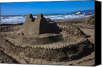 Seal Canvas Prints - Giant sand castle Canvas Print by Garry Gay