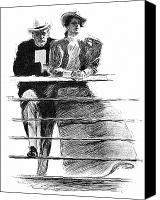 Illustrator Canvas Prints - Gibson: Couple, 1897 Canvas Print by Granger