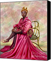 Nina Simone Canvas Prints - Gifted And Black-No Longer Looking Back Canvas Print by Reggie Duffie