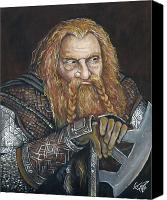 Lord Of The Rings Painting Canvas Prints - Gimli Canvas Print by Tom Carlton