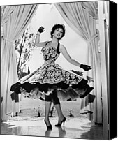 1950s Portraits Canvas Prints - Gina Lollobrigida At Her Villa Canvas Print by Everett