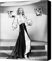 1950s Fashion Canvas Prints - Ginger Rogers (1911-1995) Canvas Print by Granger