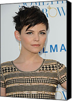 Gold Earrings Photo Canvas Prints - Ginnifer Goodwin At Arrivals Canvas Print by Everett