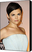 Dangly Earrings Canvas Prints - Ginnifer Goodwin At Arrivals For 2009 Canvas Print by Everett