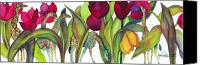 Tulip Canvas Prints - Giraffes Canvas Print by Jan  Porterfield