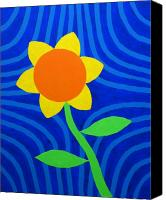Great Painting Canvas Prints - Girasol Canvas Print by Oliver Johnston