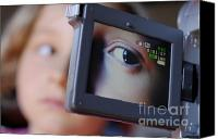 Number 7 Canvas Prints - Girl being videotaped Canvas Print by Sami Sarkis